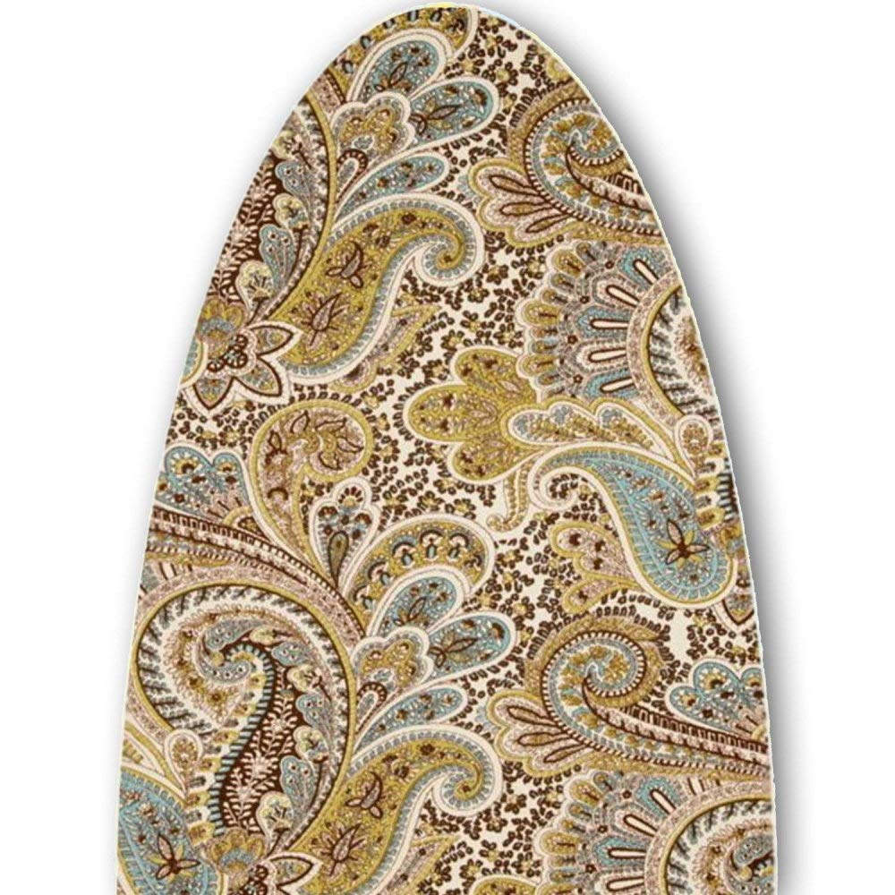 ClarUSA Specifically Designed for The Polder Tabletop Board (32 x 12 inches) Chocolate Paisley Print