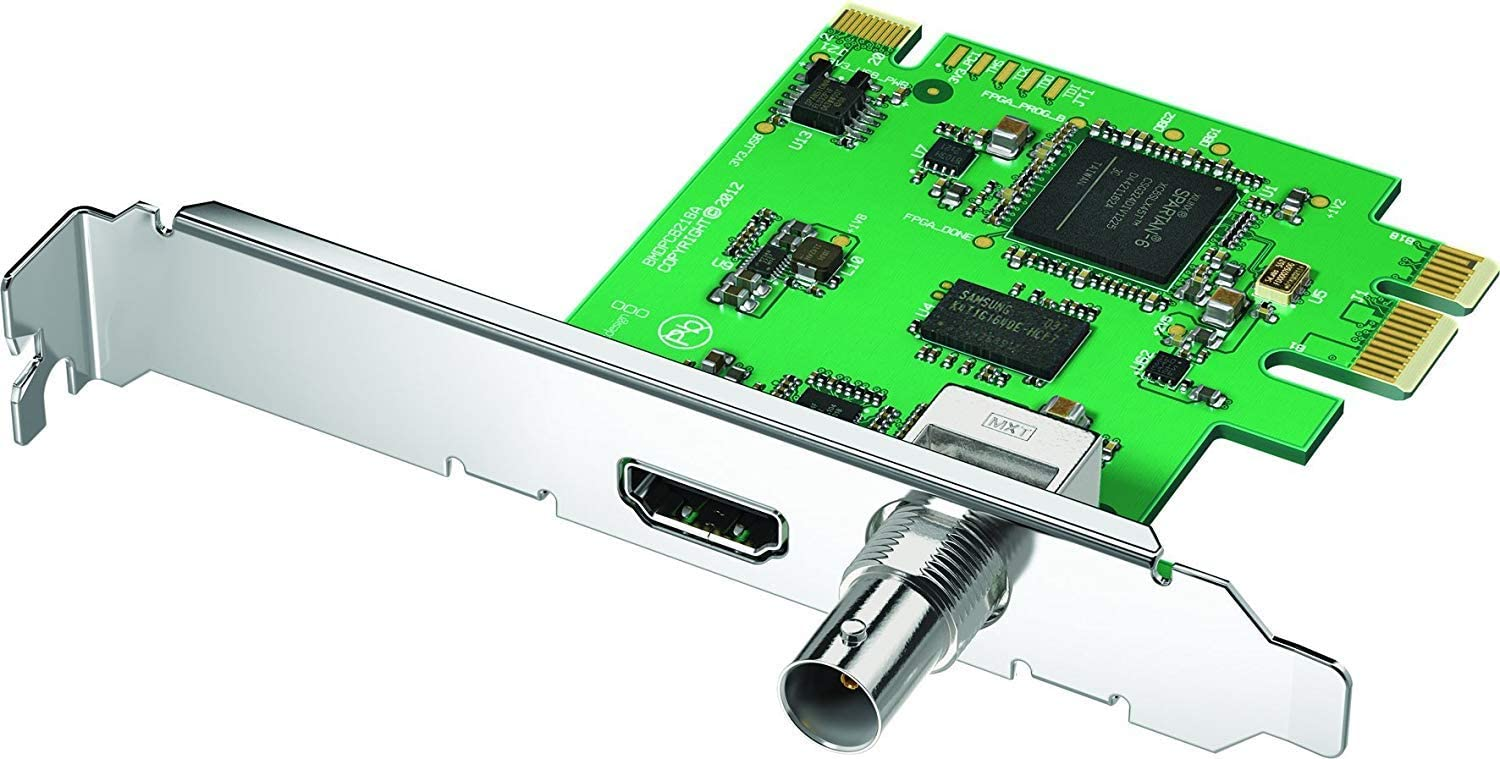 Blackmagic Design Decklink Mini Monitor Internal Pci Video Capture Card Amazon Co Uk Computers Accessories