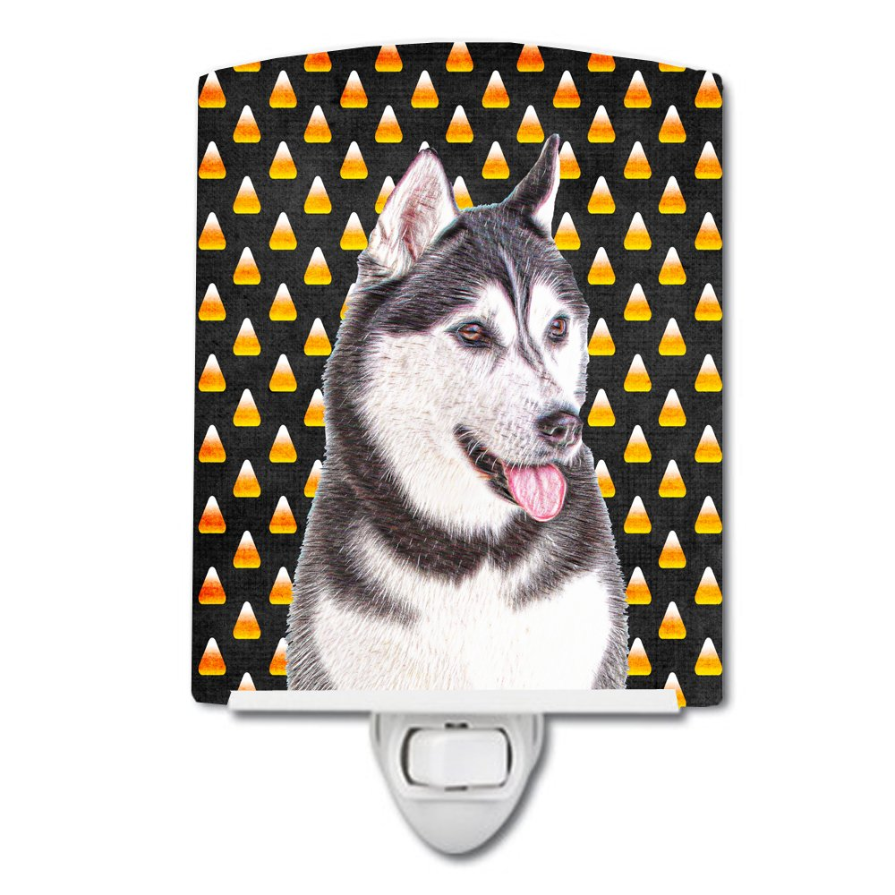 Caroline's Treasures Candy Corn Halloween Alaskan Malamute Night Light, 6'' x 4'', Multicolor