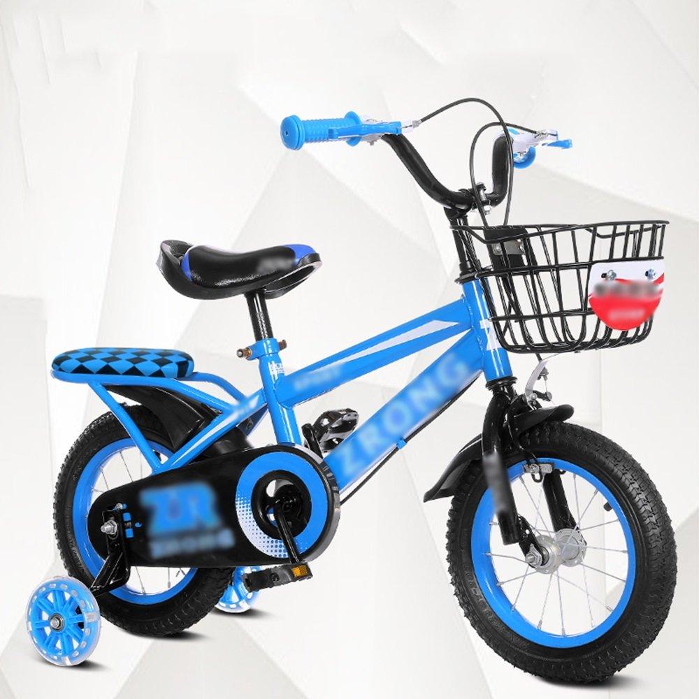 HAIZHEN マウンテンバイク キッズバイク、サイズ12インチオプション、14インチ、16インチ、18インチレッドブルーイエロー安全で信頼性の高い 新生児 B07C6W8R5Q 18 inches|青 青 18 inches