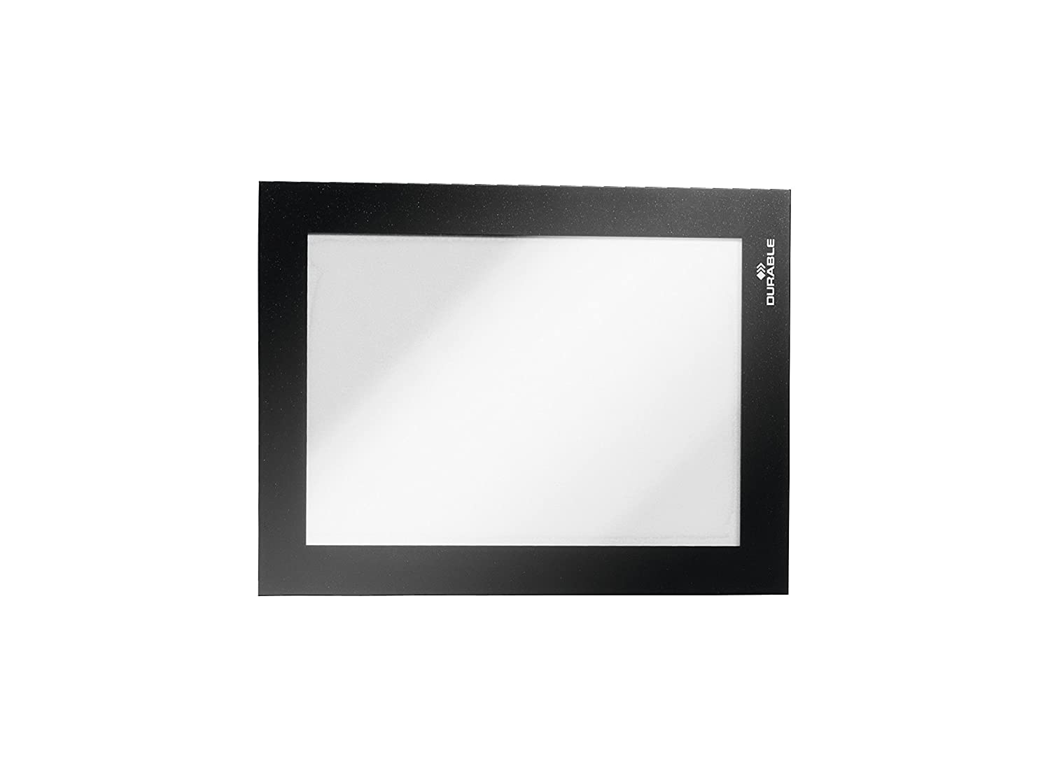 Durable DURAFRAME 487202 Retail Pack of 2 Notices A4 Magnetic Frame with Self-Adhesive Backing Display Frame for POS Wall and Windows White Photos