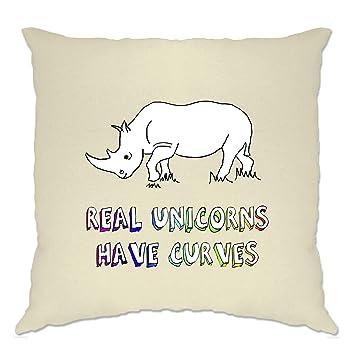 Amazon.com: Real unicornios tienen curvas Rhino dibujado a ...