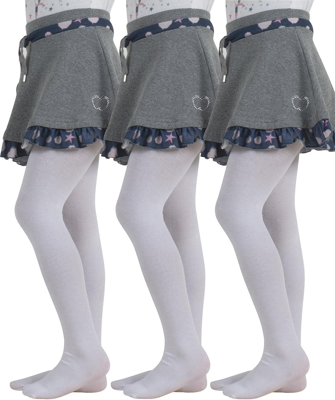 Carolilly Collant en Coton B/éb/é Fille Leggings Enfant Infantile