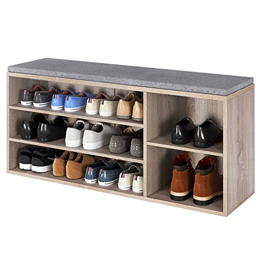 Homfa - Mueble de Entrada para Zapatos, estantería de 3 ...