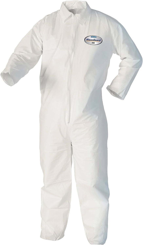 10 unidades de tama/ño XL, color blanco mono desechable traje de protecci/ón desechable Ropa desechable desechable