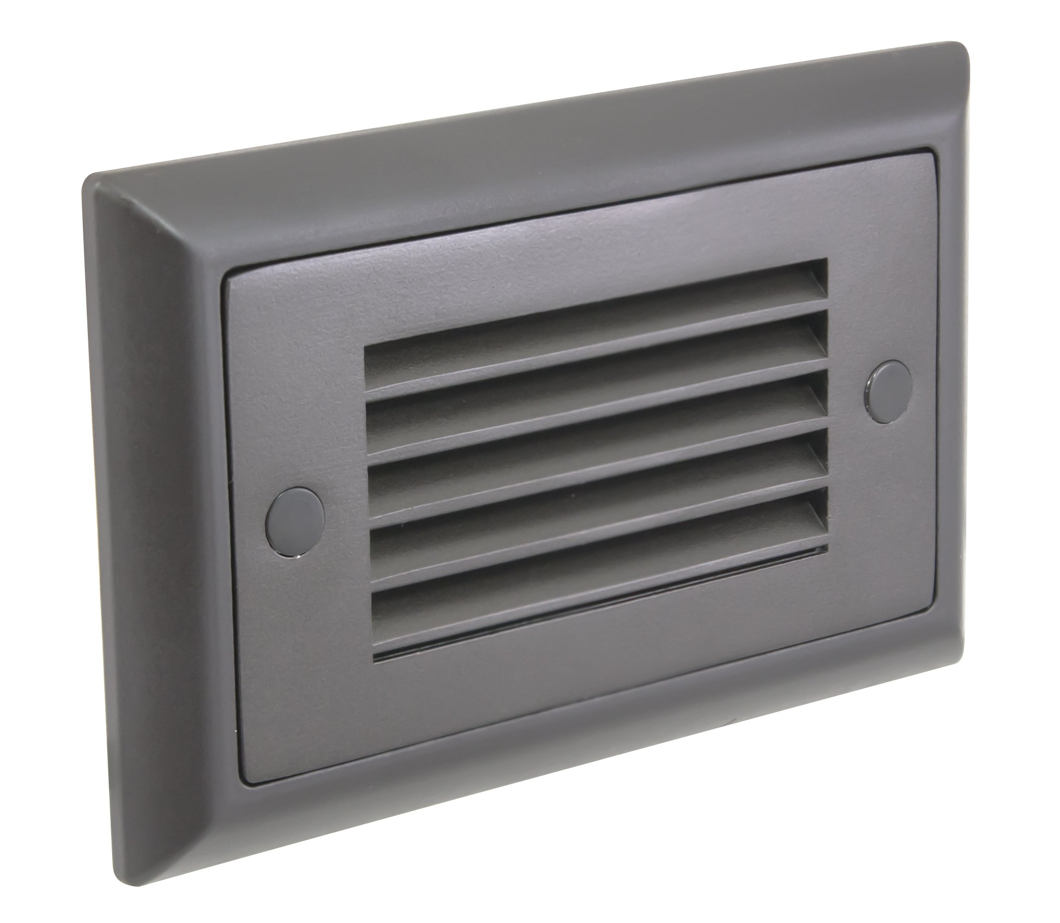 American Lighting SGL-HL-DB Horizontal Louver Faceplate for LED Step Light, Dark Bronze