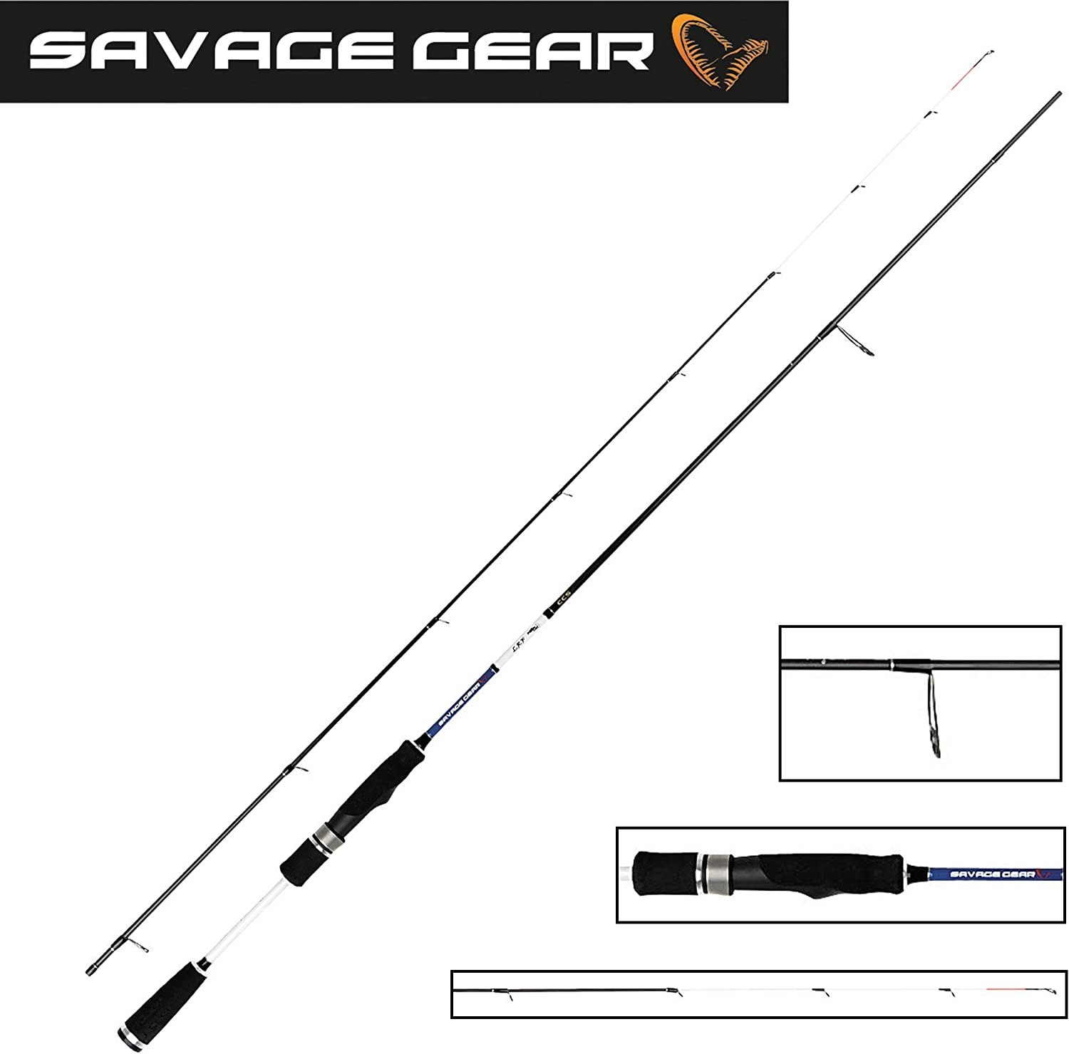 Savage Gear CAÑA Spinning LRF CCS - Light Range Fishing Rods - 120 ...
