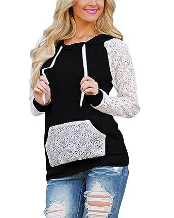 StyleDome Mujer Sudadera con Capucha para Mujeres Moda Suéter Tops Otoño Casual: Amazon.es: Ropa y accesorios