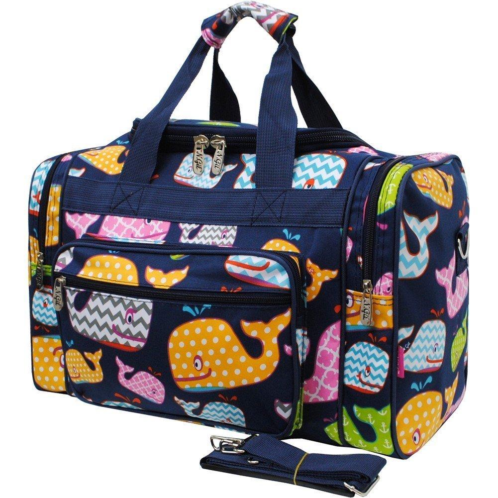 Sea Summer Whale Print NGIL Carry on 17'' Duffle Bag