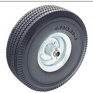 10 3.00-4 PU Solid Foam Wheel Steel Rim 70mm wide Puncture Proof Wheelbarrow Sack Trolley Wheel 20mm Bore with Ball Bearings