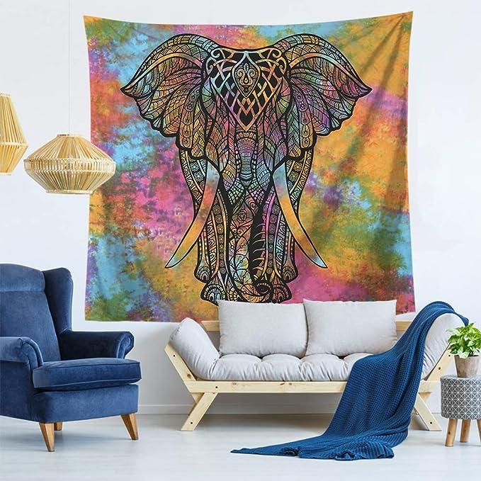mmzki Tapiz de Elefante Manta de Toallas de Playa para Colgar ...