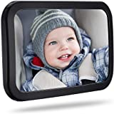 Baby Car Mirror, Car Seat Mirror for Rear Facing with Wide View, Shatterproof, Fully Assembled, Crash Tested and Certified fo