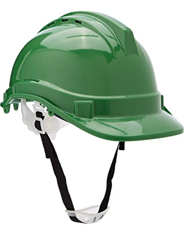 Silverline 633676 - Casco de seguridad (Verde)