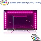 LED retroilluminazione TV, illuminazione bias USB 2M con 16 colori e 4 modalità dinamica per HDTV da 40 a 60 pollici, monitor PC, led strip light.