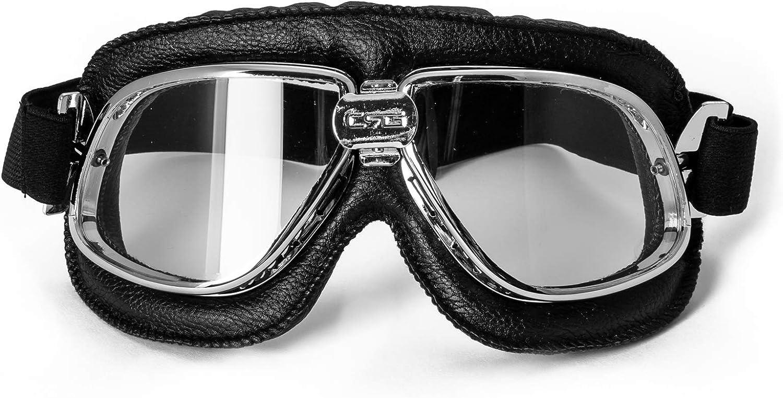 Motorrad Motorradbrille Staubdichte Aviator Schutzbrille Vintage Sport