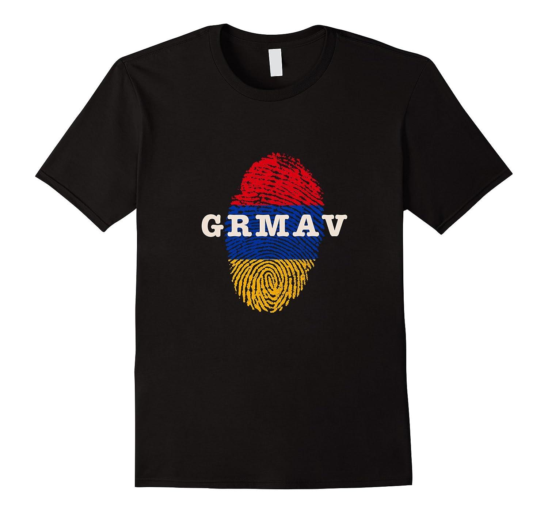 Grmav t-shirt with Armenian flag colors-Art