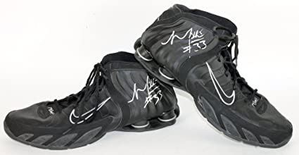 57326f425c29d8 Warriors Mikki Moore Authentic Signed Game Used Size 18 Nike Shox ...