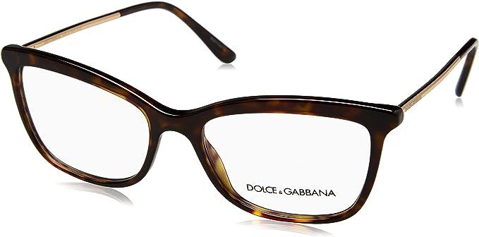 Dolce Gabbana Frame Dg 3286 502 Plastic Metal Dark Havana Gold Clothing