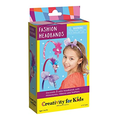 Creativity for Kids Fashion Headbands Mini Craft Kit - Makes 3 DIY Hair Accessories Girls (New Packaging): Toys & Games