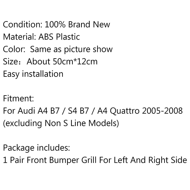 Areyourshop 2 soportes de parachoques para rejilla de luz antiniebla delantera inferior para A4 S-line B7 2005-2008