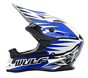 Wulfsport Kids Advance Motocross Moto Casco Off Road Quad Bike ECE2205 Aprobado | Azul S (