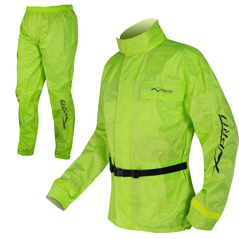 Wasserdichte Regen Jacke und Hose Anzug Kombi Hoehe Sichtbarkeit Fluo L A-PRO 5180000070373