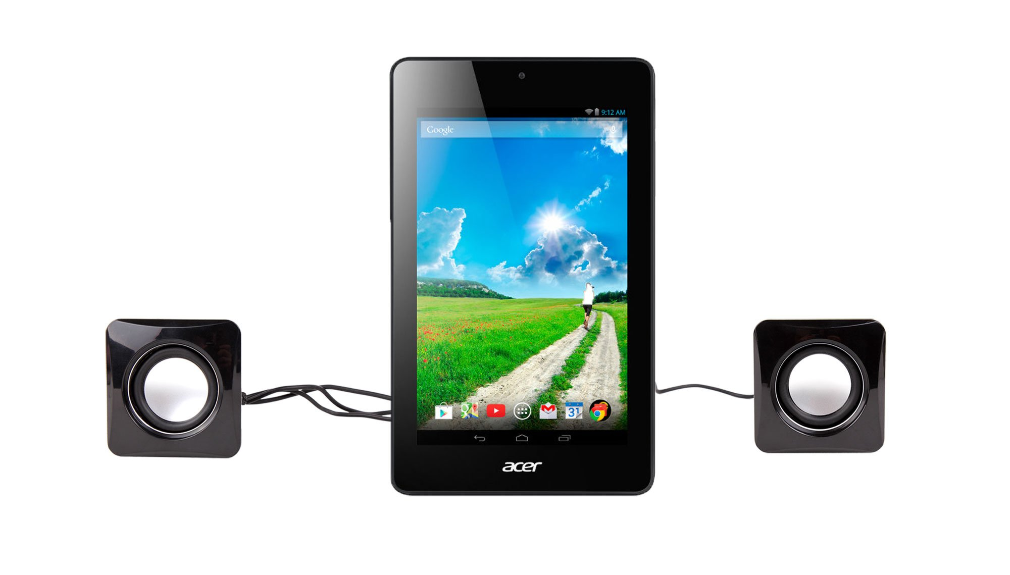 DURAGADGET Small & Portable USB Powered DVD's Speakers With Volume Dial For Acer Iconia One 7 B1-730, Acer Iconia Tab 7 A1-713HD, Acer Iconia Tab 7 A1-713