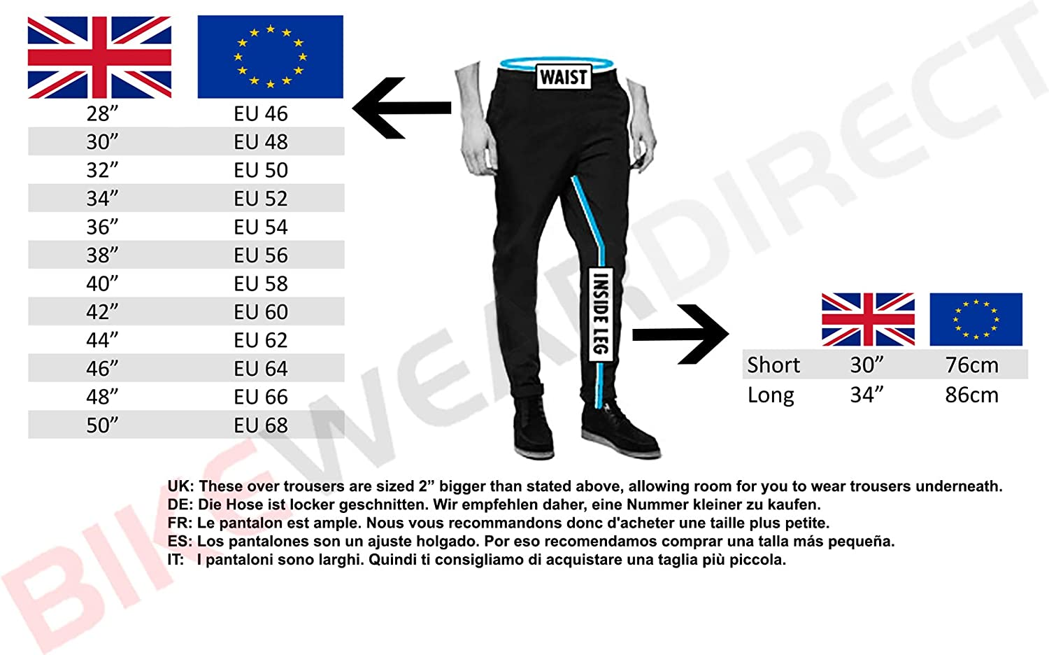 By Texpeed Motorcycle Over Trousers Waterproof With CE Armour Protection Commuting To Work Full Length Side Leg Zips