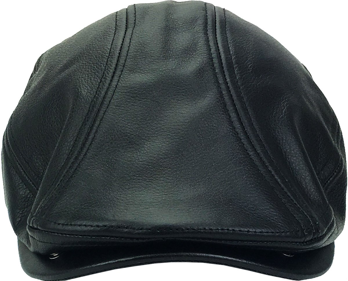 LEATHER-ASCOT BLK S M Genuine Leather Ascot Ivy Made In USA Hat - RRR2285    Shops   Clothing d2e90f67b3c