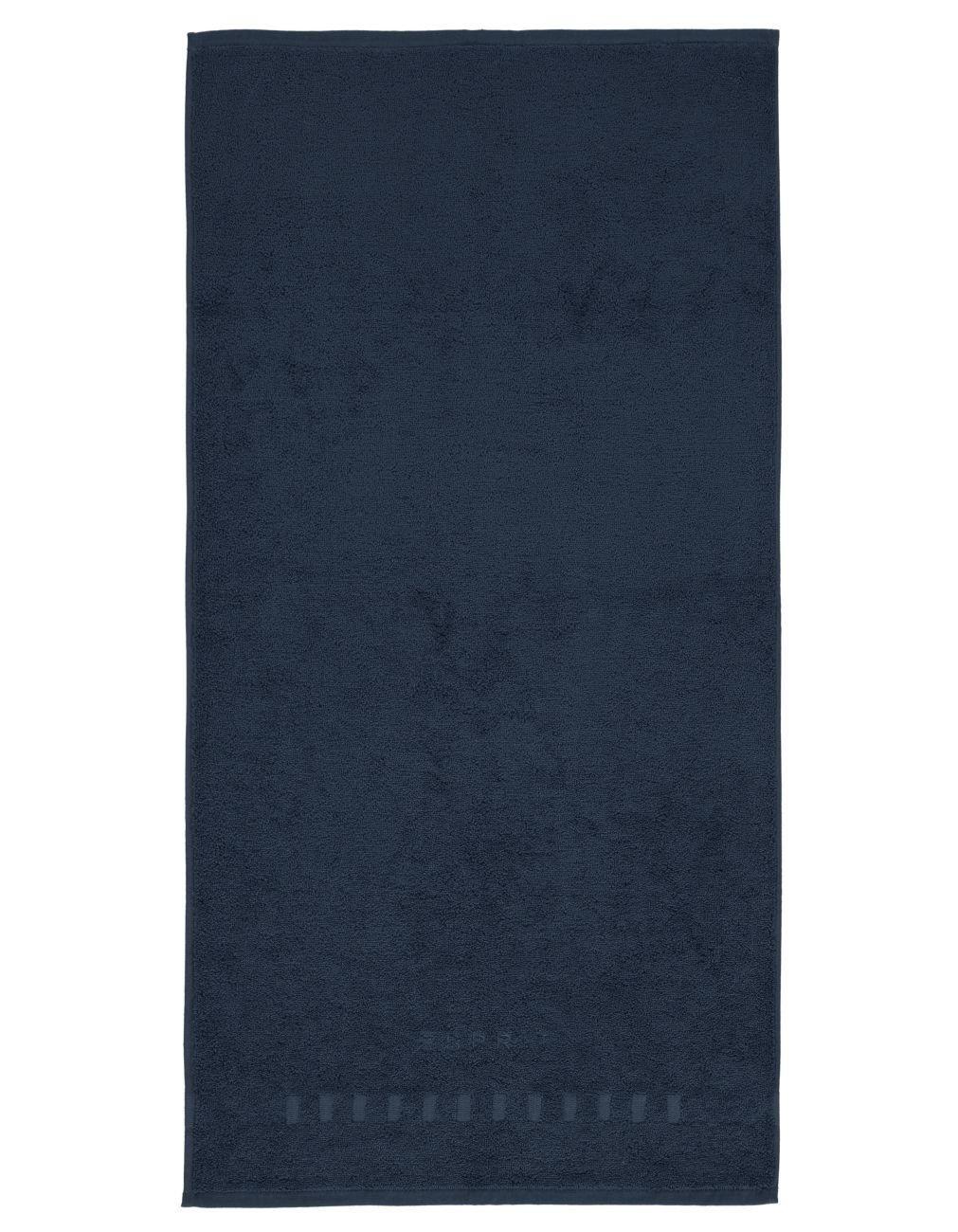 ESPRIT Uni Handtücher Solid Black Waschhandschuh 16x21 cm
