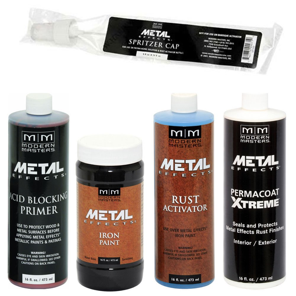 Modern Masters Metal Effects Iron Paint & Rust Activator Kit (16-Ounce)