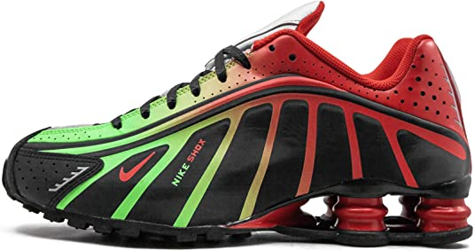 Baskets Nike Shox R4 Neymar Jr Black Challenge red Metallic