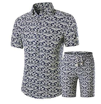 e224fa0d3003 hellomiko Herren Kurzarm Fashion Print Shirt, Sommer Strand Shirts   Amazon.de  Bekleidung