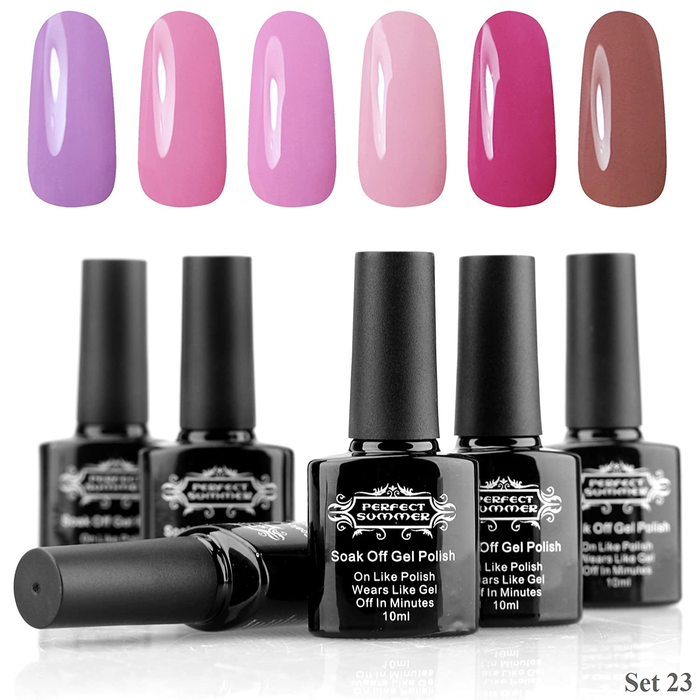 Amazon.com : Perfect Summer Pro Gel Nail Polish UV LED Soak Off Gel ...