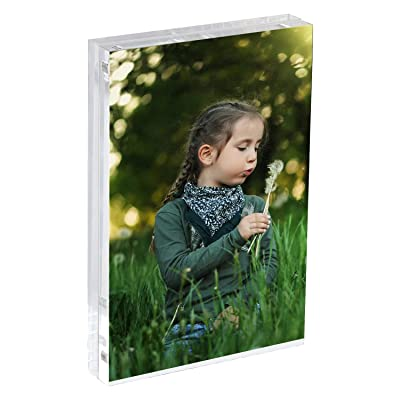 """4"""" By 4"""" Acrylic Picture Frame Magnetic Set Of 2"""