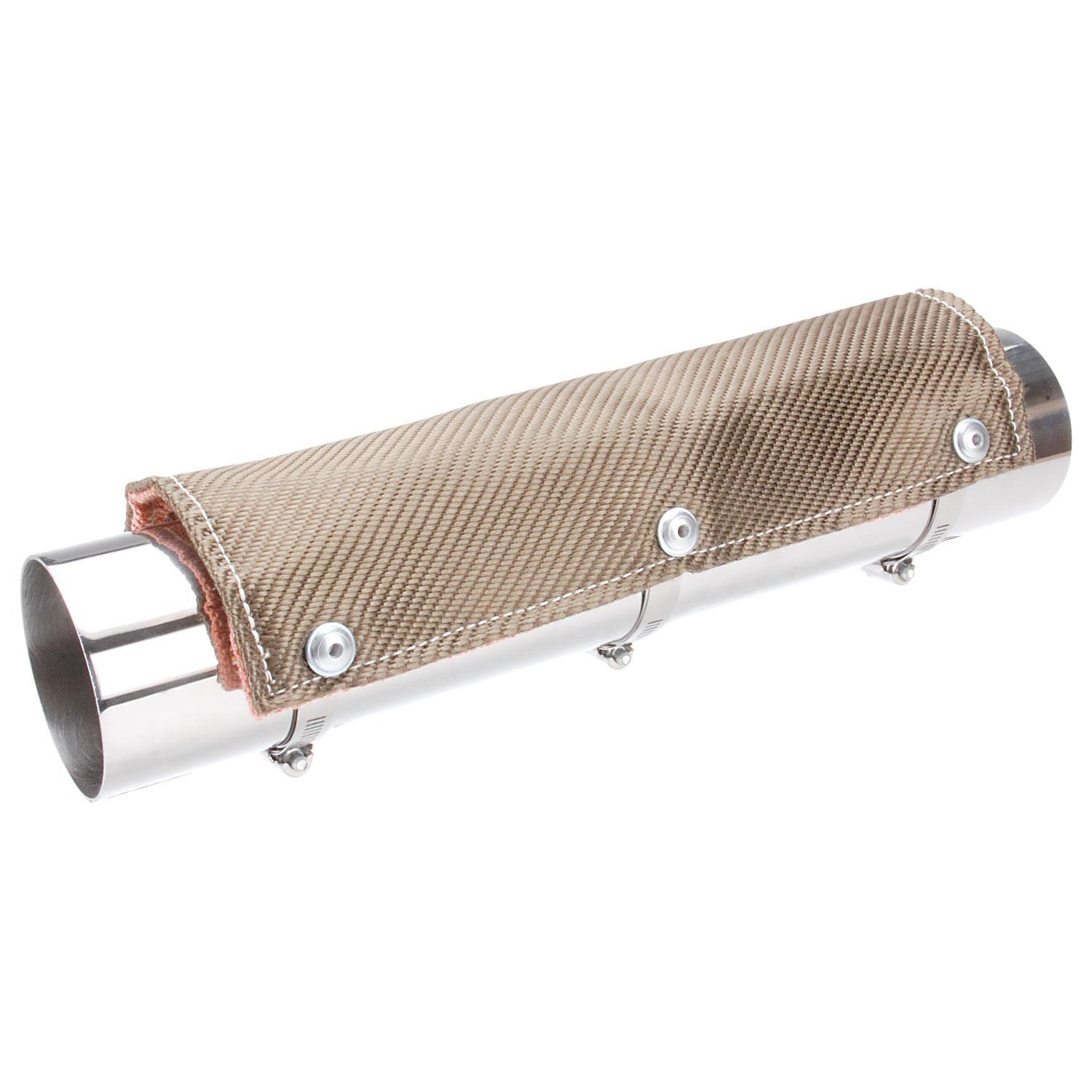 Design Engineering 010452 Titanium Pipe Shield 6 x 3 Exhaust Heat Shield