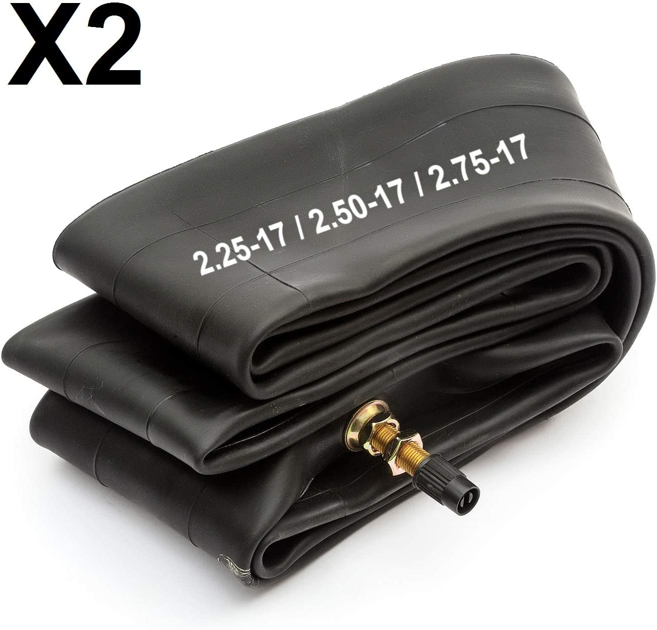 2x Innertube 2.25-17 2.50-17 2.75-17 17 Inch 70//100-17 Fits Puch Hercules Motorcycle
