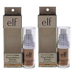 Beautifully Bare Foundation Serum SPF 25 - Fair-light by e.l.f. for Women - 0.47 oz Foundation - (Pack of 2)