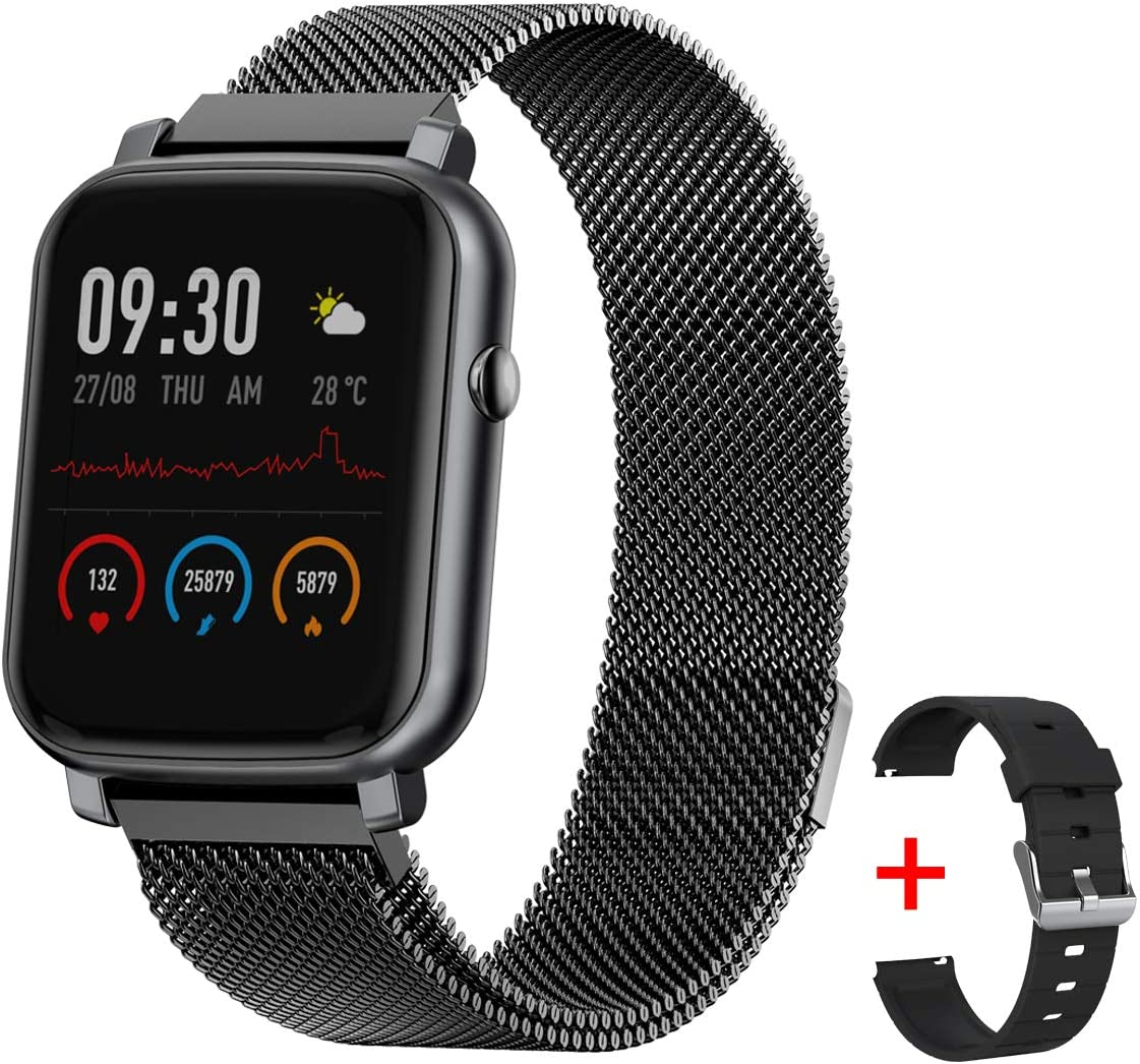 Gandley Smart Watch Fitness Tracker with Sleep Heart Rate Monitor IP68 Waterproof Smart Sport Watch Activity Tracker Female Physiological Step Counter for Women Men Kids Android iOS Phone