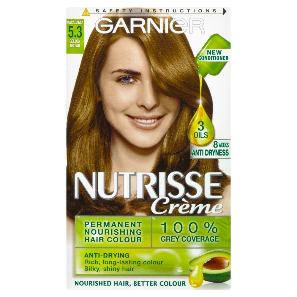 Garnier olia permanent hair colour golden brown 5 3 - Garnier Nutrisse 5 3 Golden Brown Permanent Hair Dye Amazon Co Uk Beauty