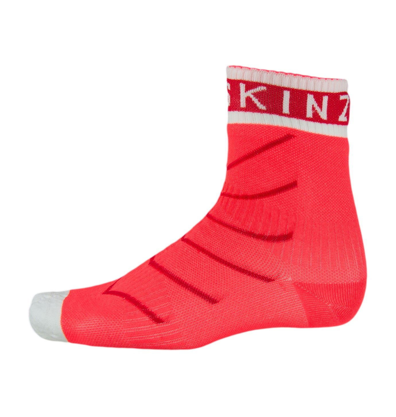SEALSKINZ Super Thin Pro Ankle Sock with Hydrostop Coral/Red/White, M - Men's by SEALSKINZ