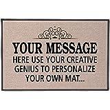 """Your Message Here Personalize Your Own Custom Doormat - Indoor/Outdoor (30""""x18"""")"""