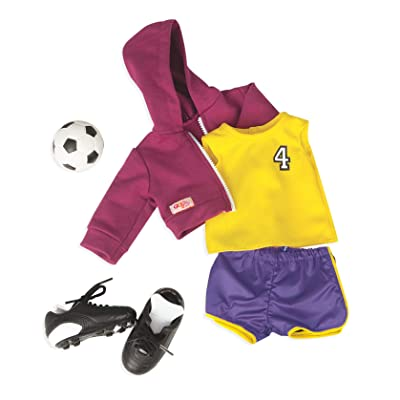 "Our Generation Dolls Team Player Doll Soccer Outfit, 18"": Toys & Games"