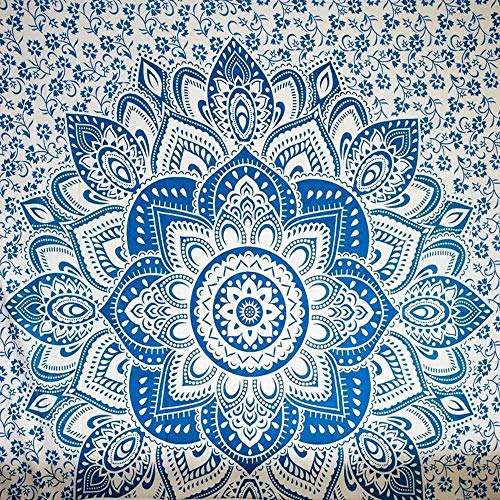 Balakie Boho Beach Cover Up Summer Travel Towel Floral Tablecloth Square Tapestry Home Decor ()