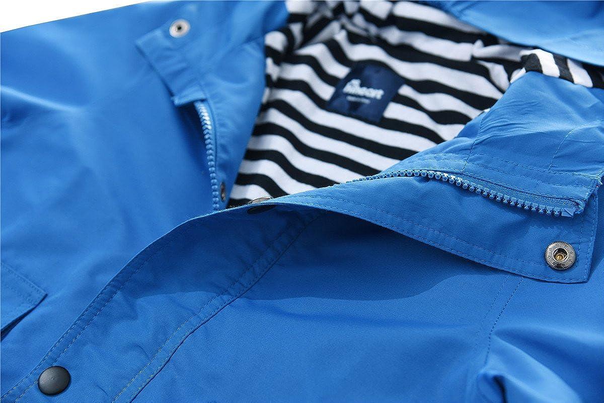 Hiheart Boys Hooded Jackets Lightweight Windbreaker Outwear