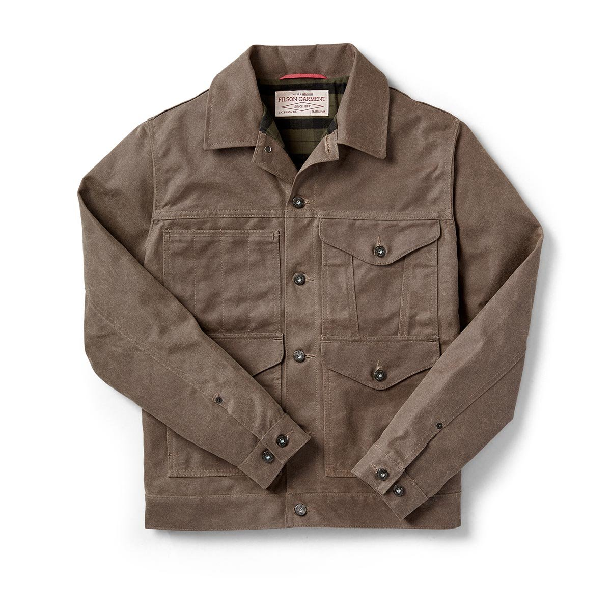 Filson Lined Short Cruiser Jacket - Seattle Fit - Wax Brown - 2X-Large