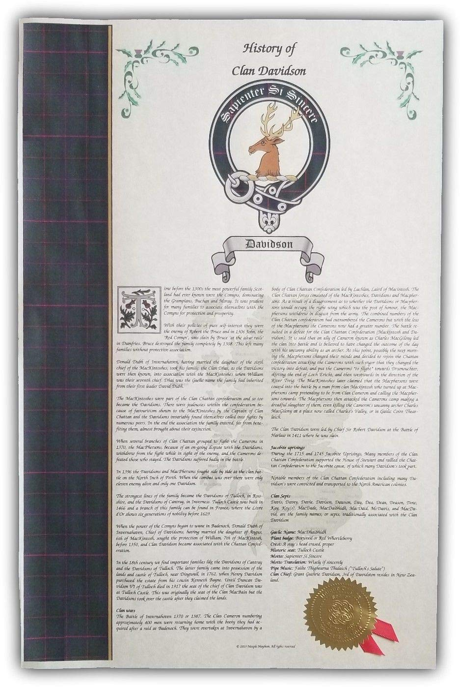 Amazon com: Welcack Scottish Clan & Sept Print, Last Name