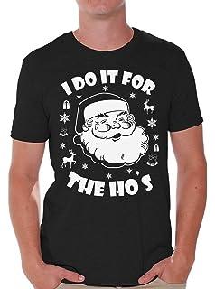Awkward Styles I Do It for The Hos Shirt Ugly Christmas Shirt Mens Santa Shirt