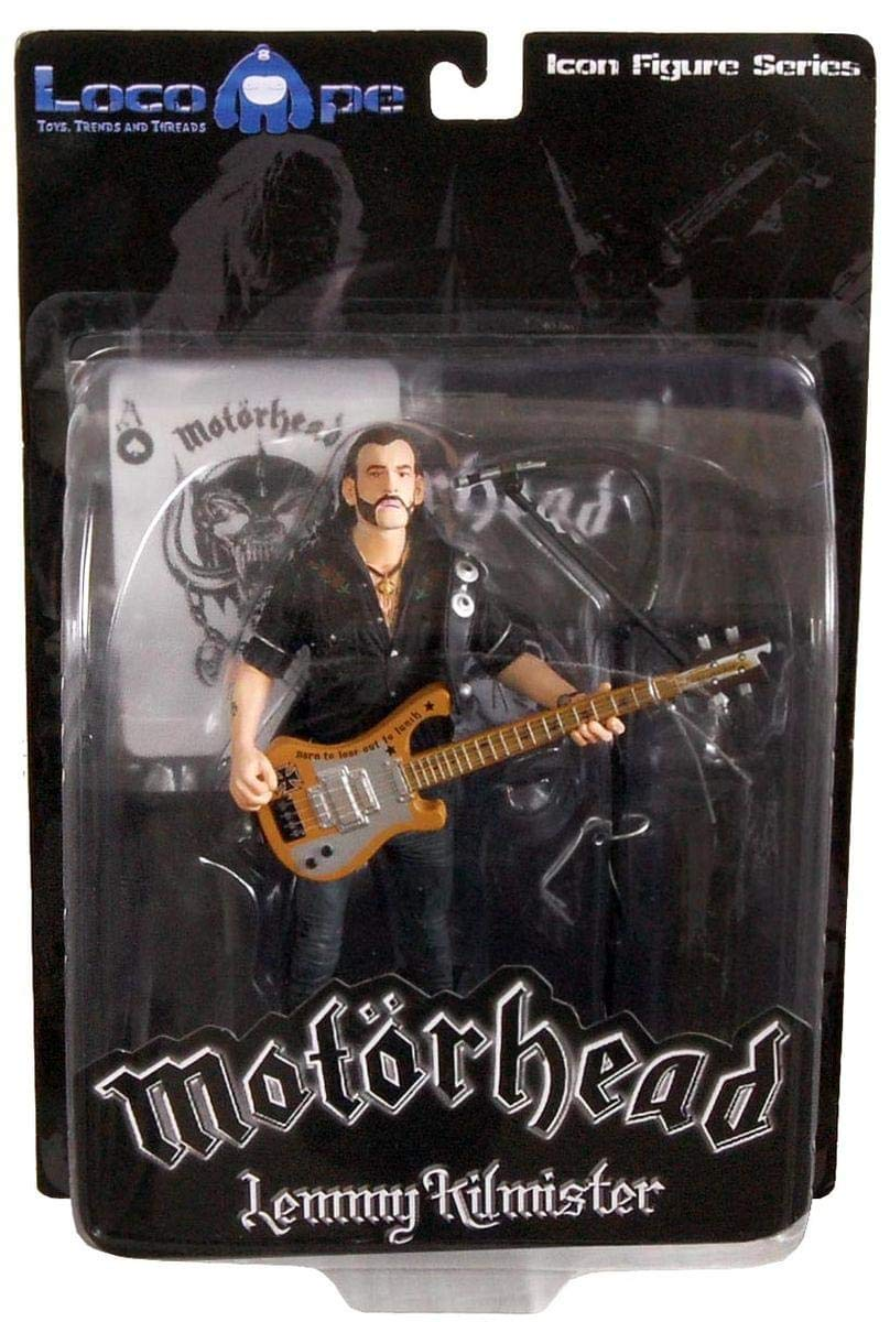 Toynk Motorhead Lemmy Kilmister 7'' Icon Figure Rickenbacker Guitar Cross by Toynk