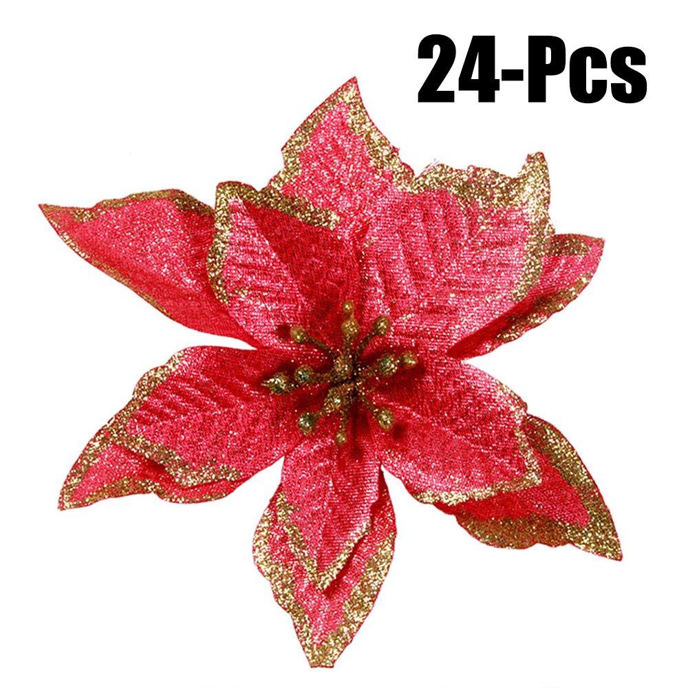 Amazon Outgeek 24pcs 591 Glitter Artificial Flowers Wedding